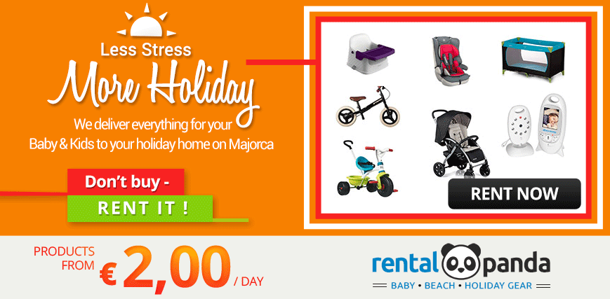 Rent holiday equipment for baby & kids Mallorca