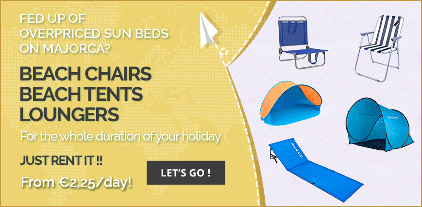 Rent beach equipment Mallorca
