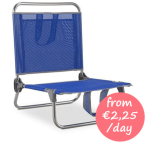 Hire a flat beach chair without armrests Majorca