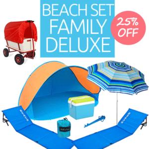 Strand Set Familie Deluxe mieten
