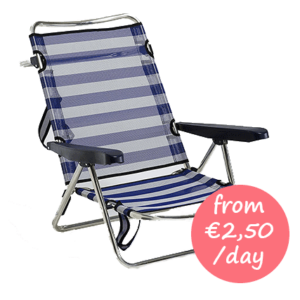 Hire beach chair with armrests Majorca