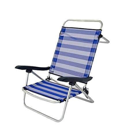 Strandstuhl flach mit Armlehne