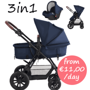 Baby Pram, pushchair and car seat for hire Mallorca